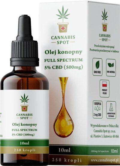 Olejek CBD 5% 500mg Full Spectrum Cannabis Spot