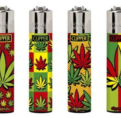 Zapalniczka CLIPPER - Liść Konopi Rasta