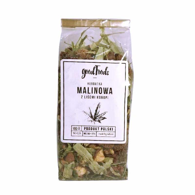 Herbata konopna malinowa 45% 100 g