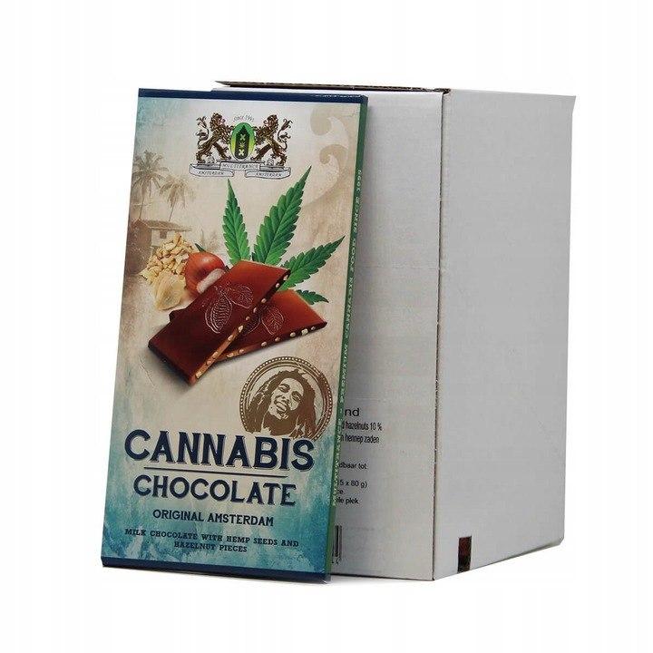 Czekolada Konopna z orzechami Cannabis