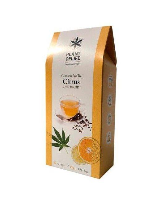 Herbata Konopna Cytrynowa ekologiczna CBD