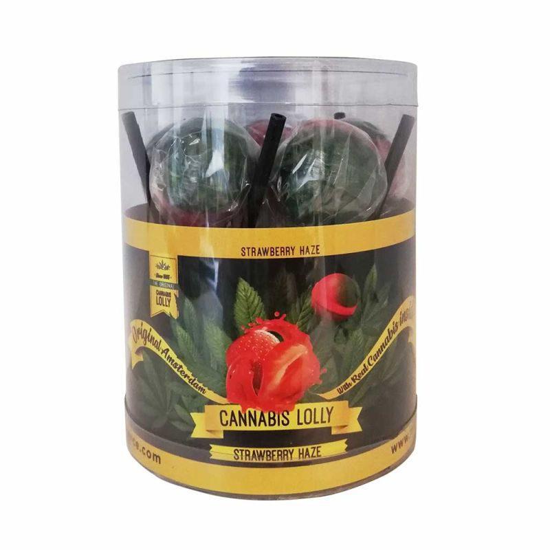 Lizak Strawberry Haze o intensywnym smaku 1 szt.