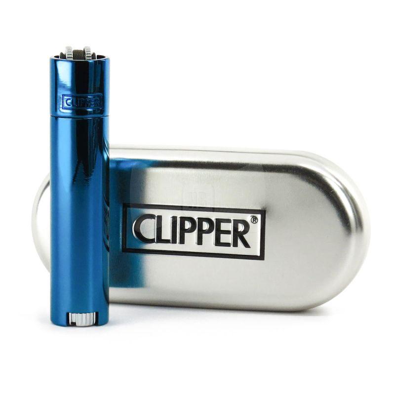 Clipper zapalniczka metalowa Icey Blue