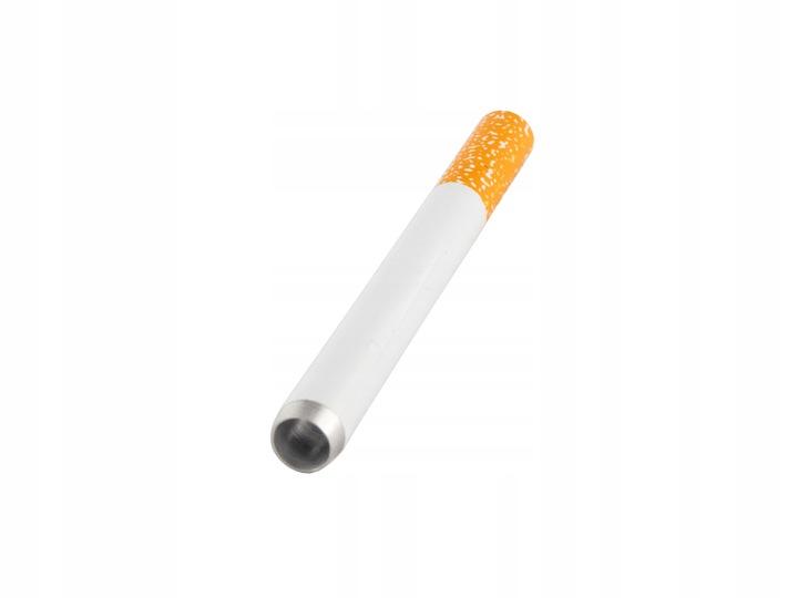 Lufka metalowa w kształcie papierosa