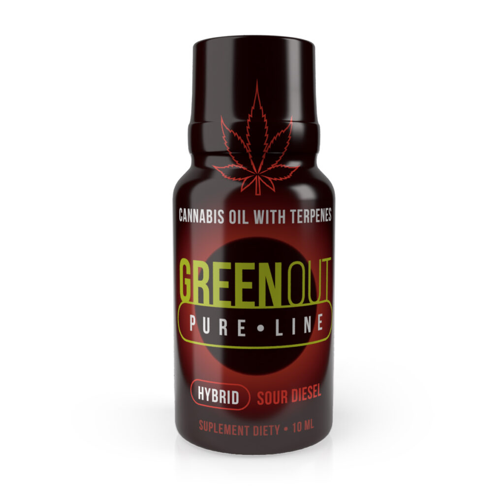 Green Out Olejek konopny CBD Sour Diesel 10 ml