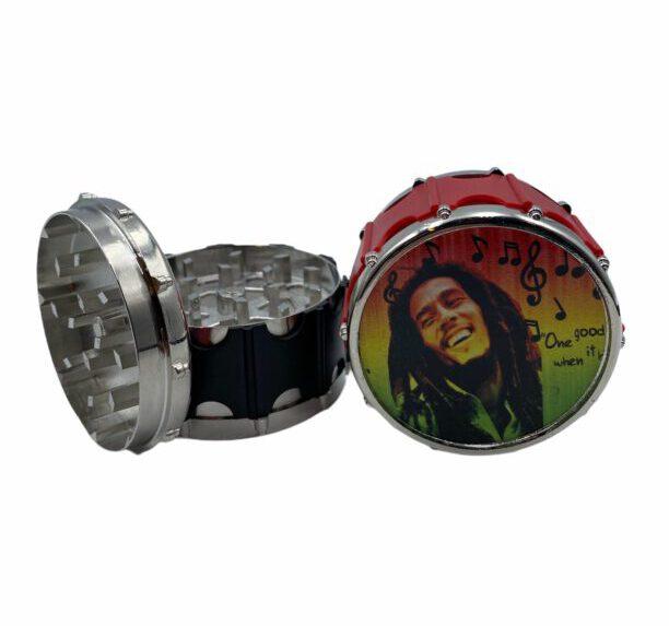 Grinder Metalowy z wizerunkiem Boba Marleya 3-częściowy