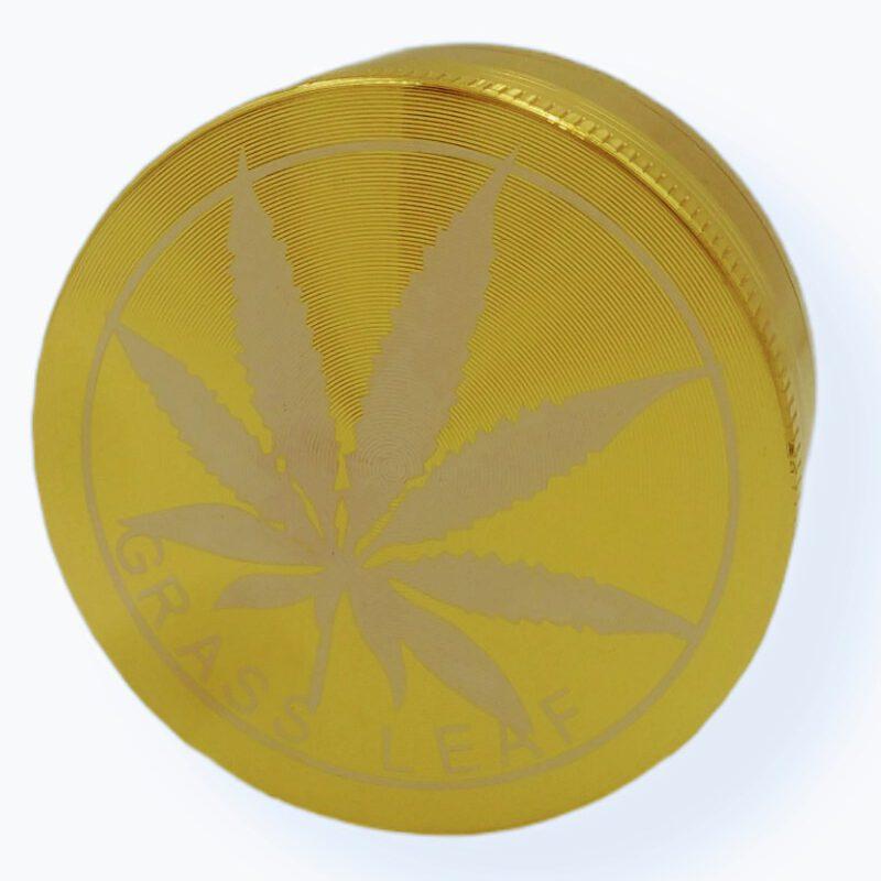 grinder 3 częściowy liść złoty
